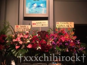 lynch.のZeppTokyo公演に届いたLUNA SEAからのお花
