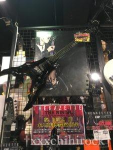 ESP大阪CUSTOM SHOPで展示されていたthe GazettE葵使用ギター