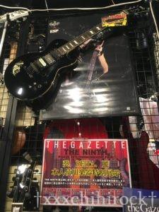 ESP大阪CUSTOM SHOPで展示されていたthe GazettE麗使用ギター